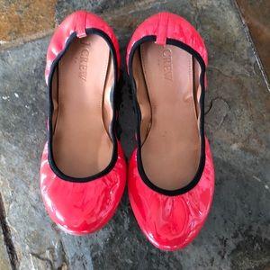 JCrew Patent Leather Suzette Elastic Flats